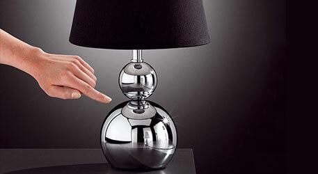 Tafellamp SOFIA met dimmer, wit
