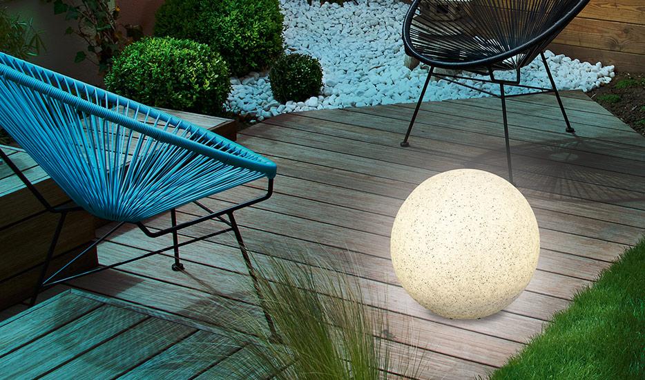 Mega Stone 30 - moderne Solar-LED-lichtbal