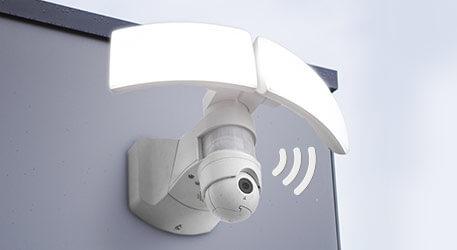 Led buitenwandlamp Libra Cam met camera