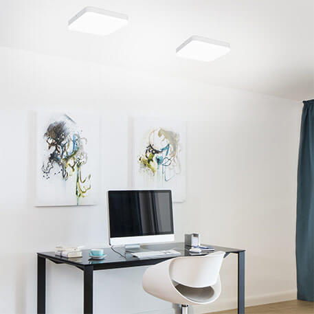 LED plafondlamp Office Square - met sensor
