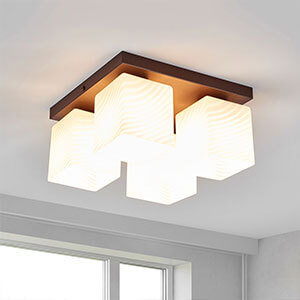 glas plafondlamp