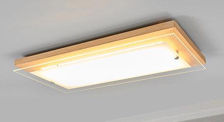 glazen plafondlamp