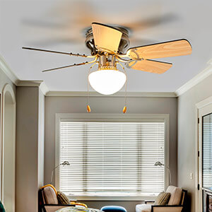 plafondventilator met verlichting