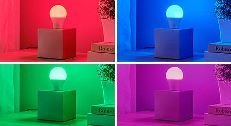 E27 LED lampen met kleur