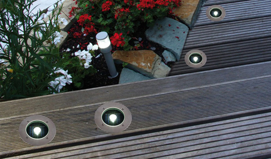 Door grondspot inbouwlampen voor buiten loopt u niet tegen de lamp