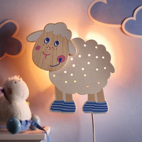 houten kinderlamp
