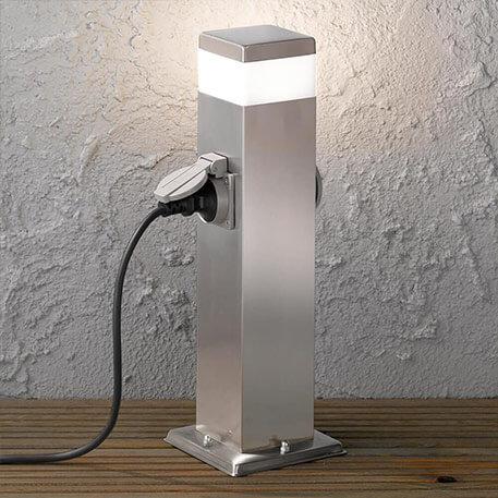 LED sokkellamp met stopcontact