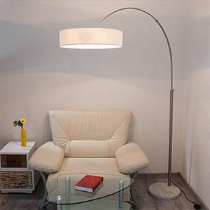 textielen kap vloerlamp