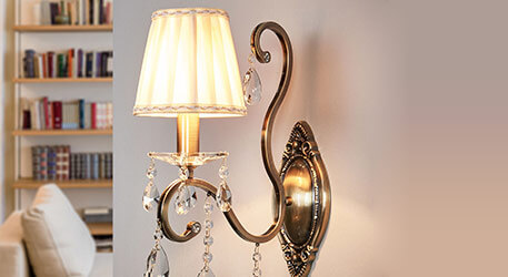 antieke wandlampen