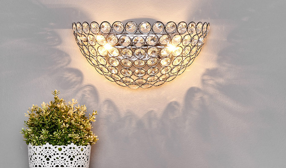 kristallen wandlampen