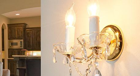 wandlamp kristal