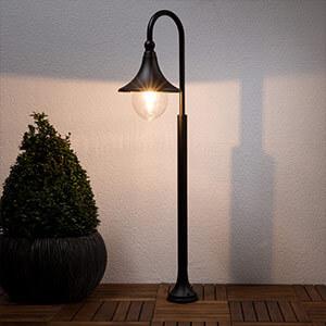 Daphne - Weglamp in het zwart