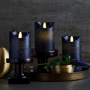 Metallic Look - LED Kaars Sara
