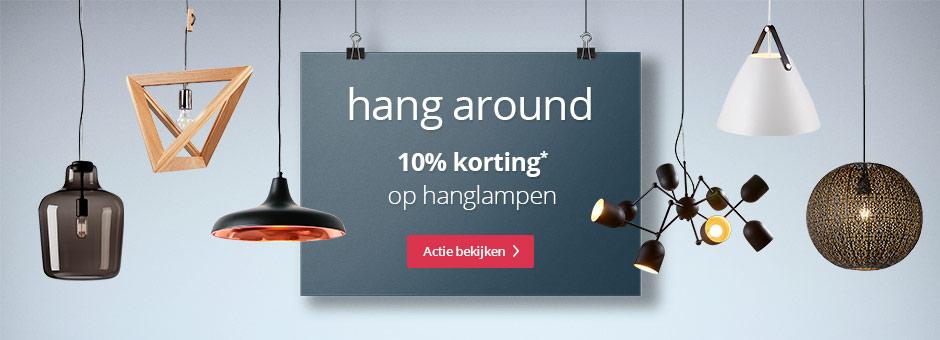 Hanglampen actie bij Lampen24.be