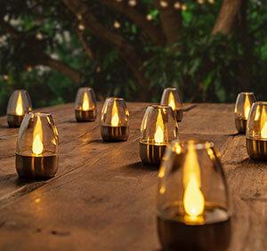 Decoratieve LED solar tafellampen Pedas