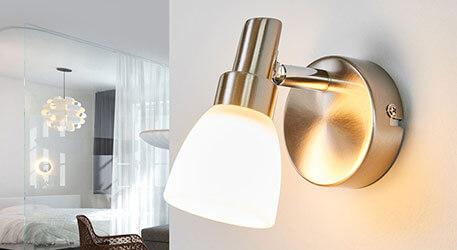 Aantrekkelijke LED wandspot Vila, nikkel