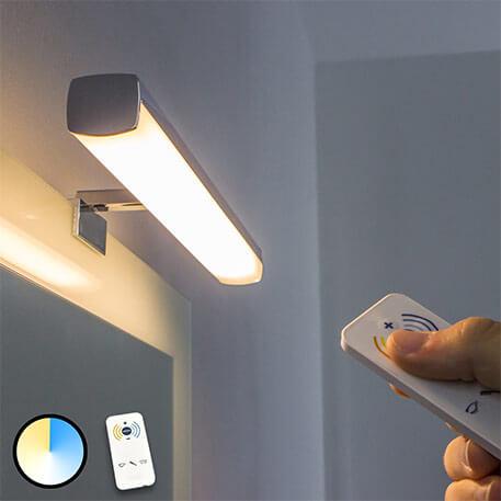LED-spiegellamp Atlas - lichtkleur instelbaar