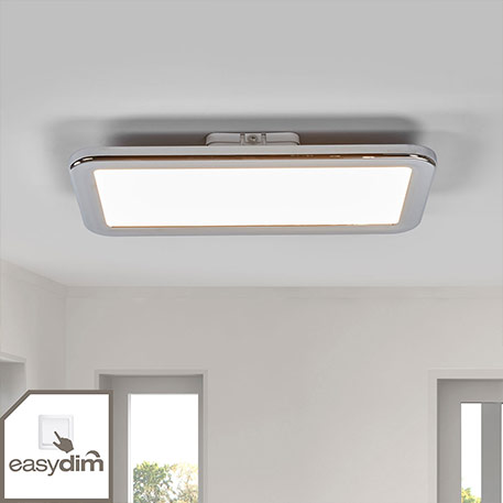 Verchroomde LED badkamer plafondlamp Filina easyd.