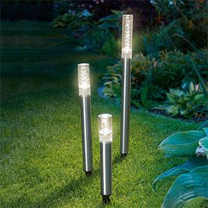 3-delige set LED-Solar-lichtstaven Trio Sticks