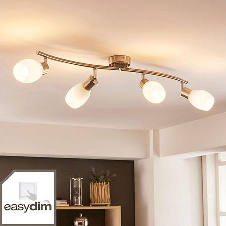 LED plafondlamp Arda met vier lampjes, easydim