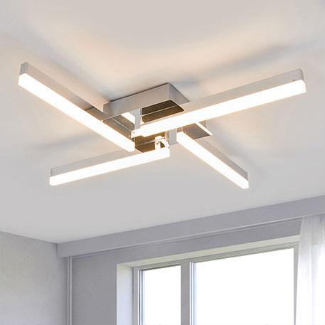 LED plafondlamp Patrik, IP44 met vier lampjes