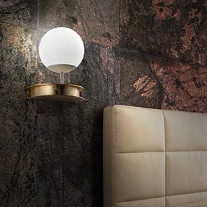 Prachtige LED plafondlamp Sfera in goud