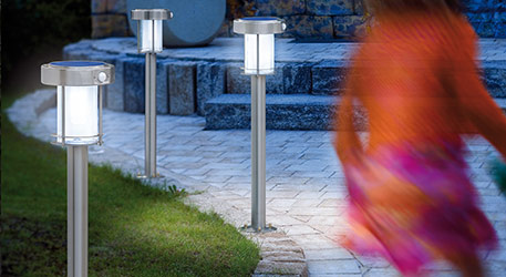 Ancona - LED lamp op zonne-energie, RVS