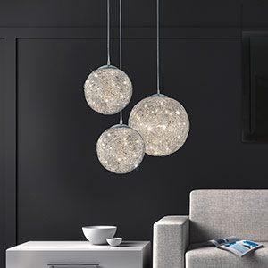 Dromerige LED pendellamp Thunder Ø 30 cm