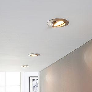 Set van drie LED inbouwlampen Andrej, nikkel mat