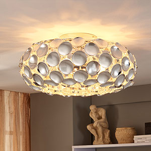 Glanzende chromen plafondlamp Reza
