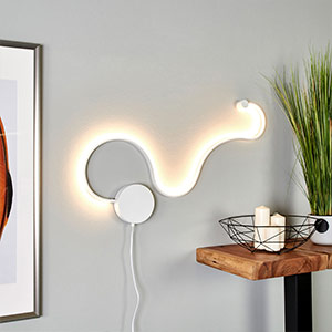 LED-Wandlampe Sandor mit einzigartigem Licht 15W