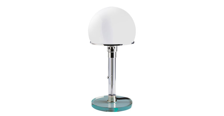 Van glas vervaardigde Wagenfeld-tafellamp